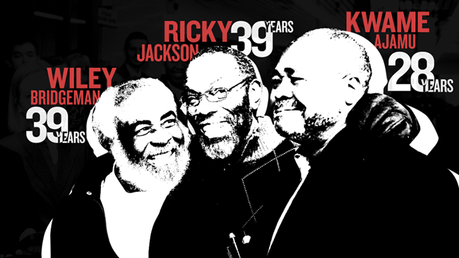 Ricky Jackson, Kwame Ajamu, and Wiley Bridgeman Joint Interview by Fusion